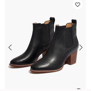 Madewell regan boot black leather sz 9